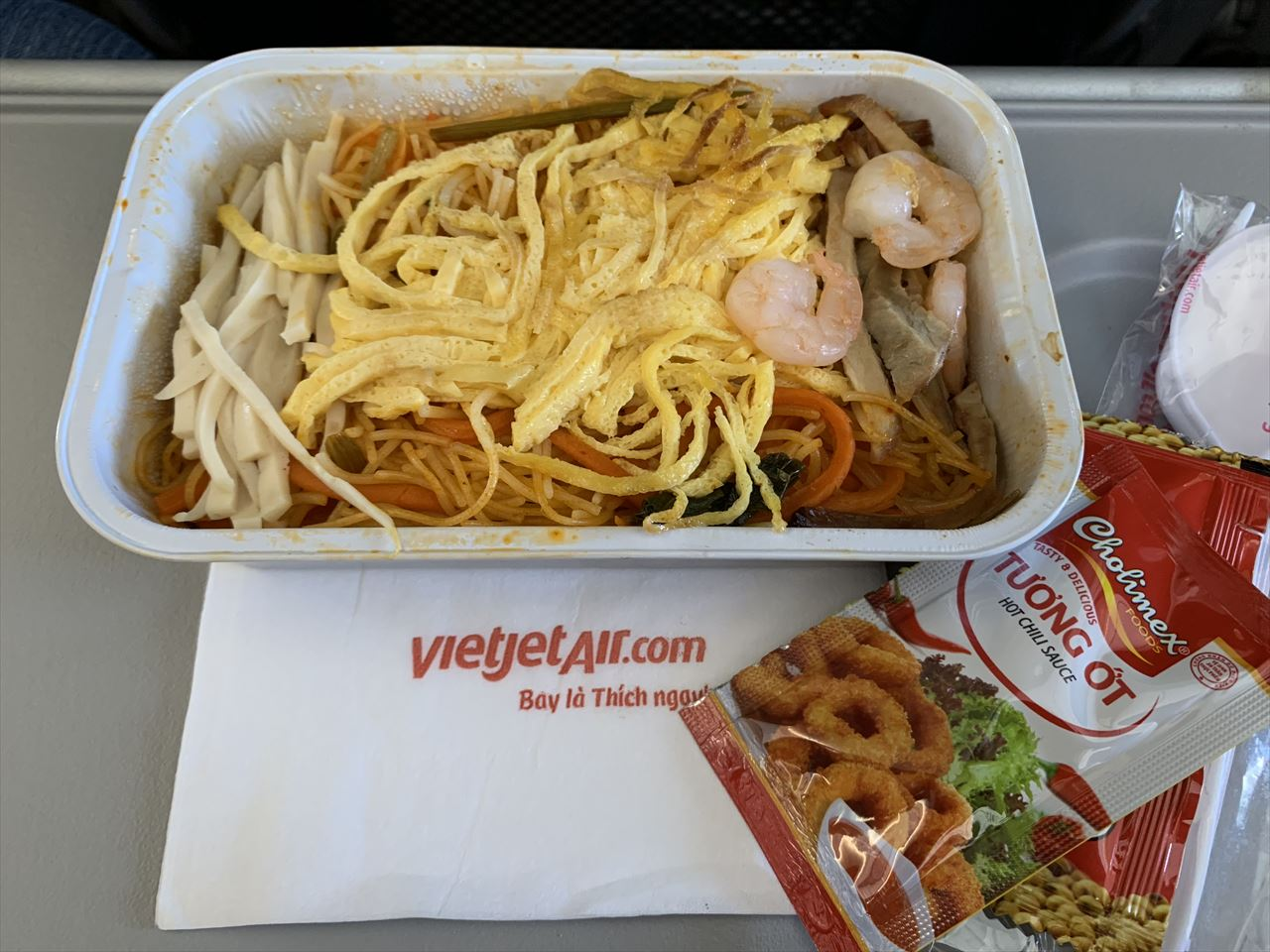 ベトジェットエア機内食 シンガポール風ヌードル