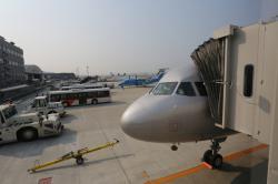 福岡空港に到着