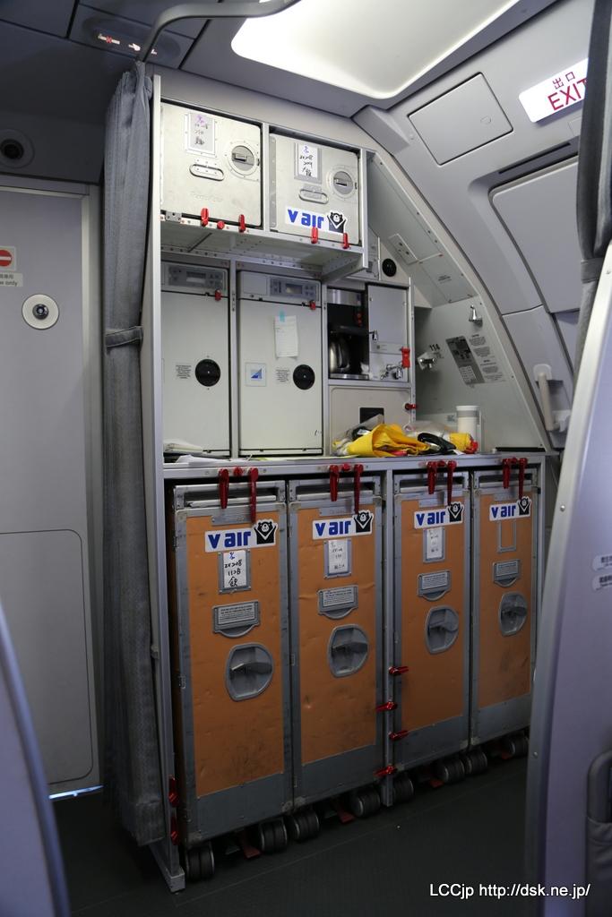 Vエア A320 機内 ギャレー