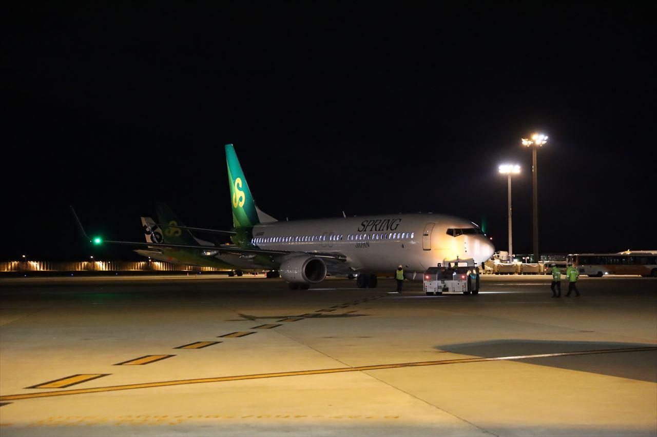 春秋航空日本 IJ001初便が上海に向けて出発