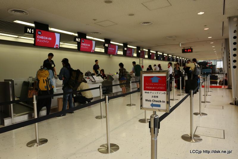 成田空港 タイエアアジアX カウンター