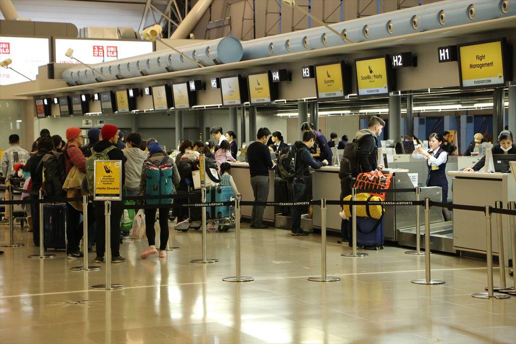 関空T1 スクート チェックインカウンター