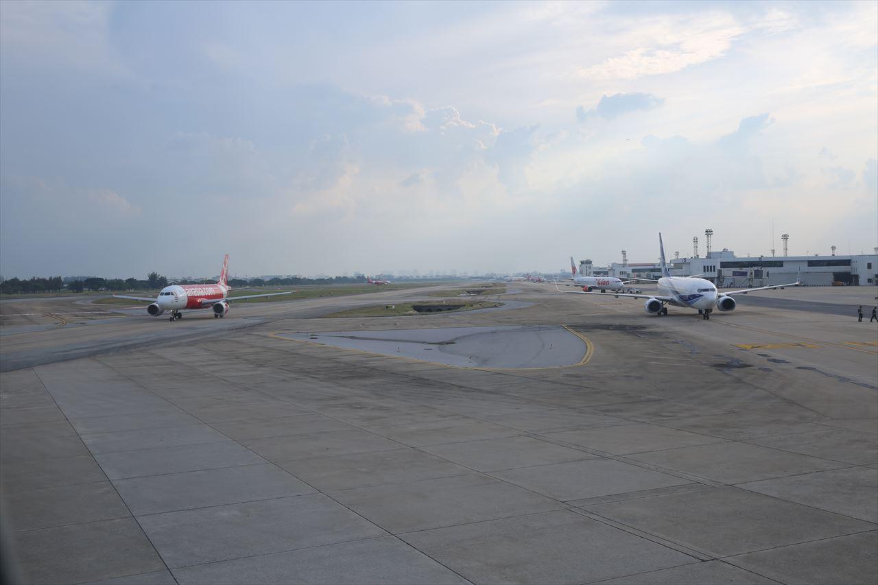 タイライオンエア ドンムアン空港に到着