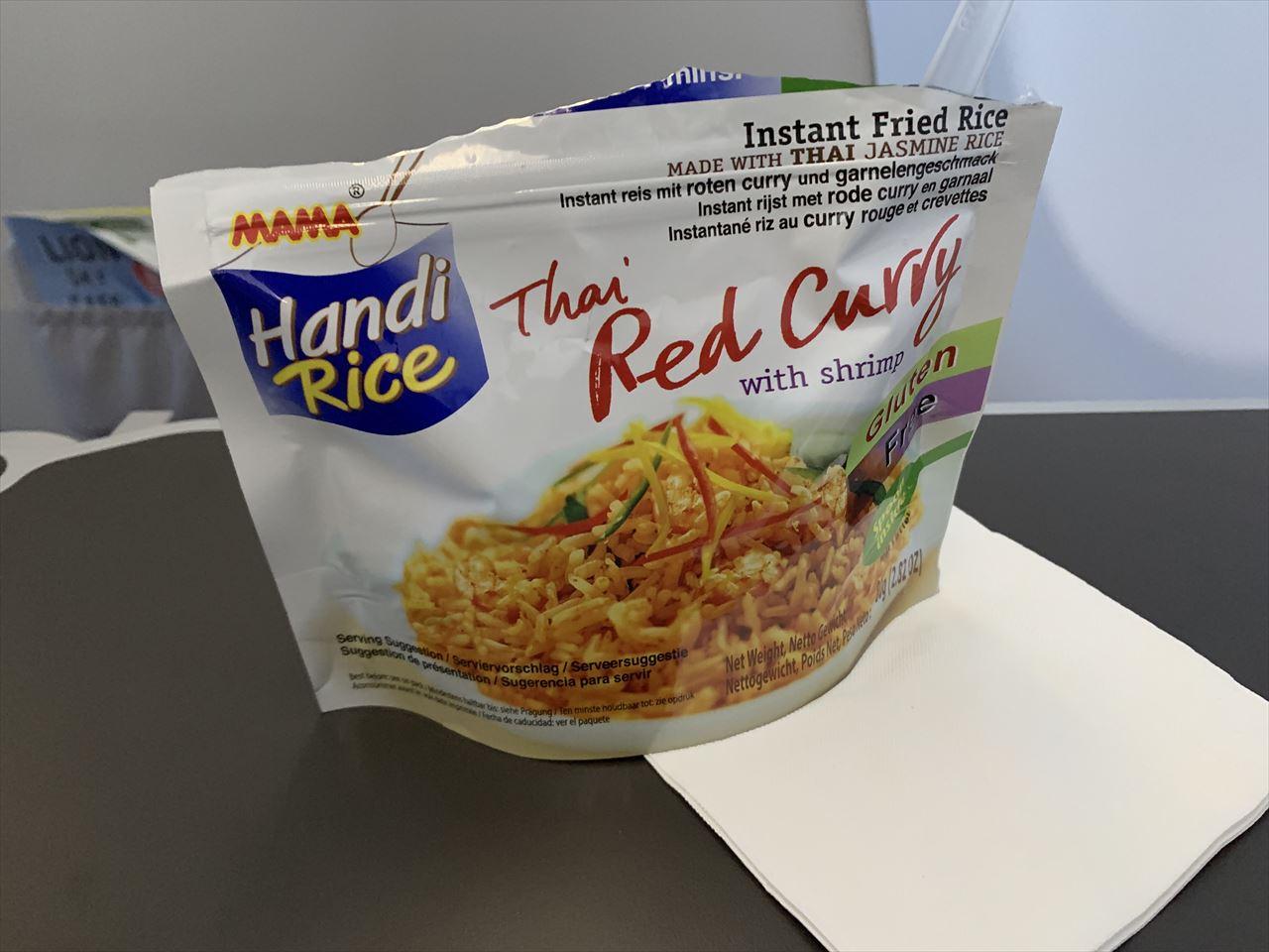 タイライオンエア機内食インスタントタイレッドカレー