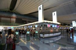 羽田空港 Kカウンター
