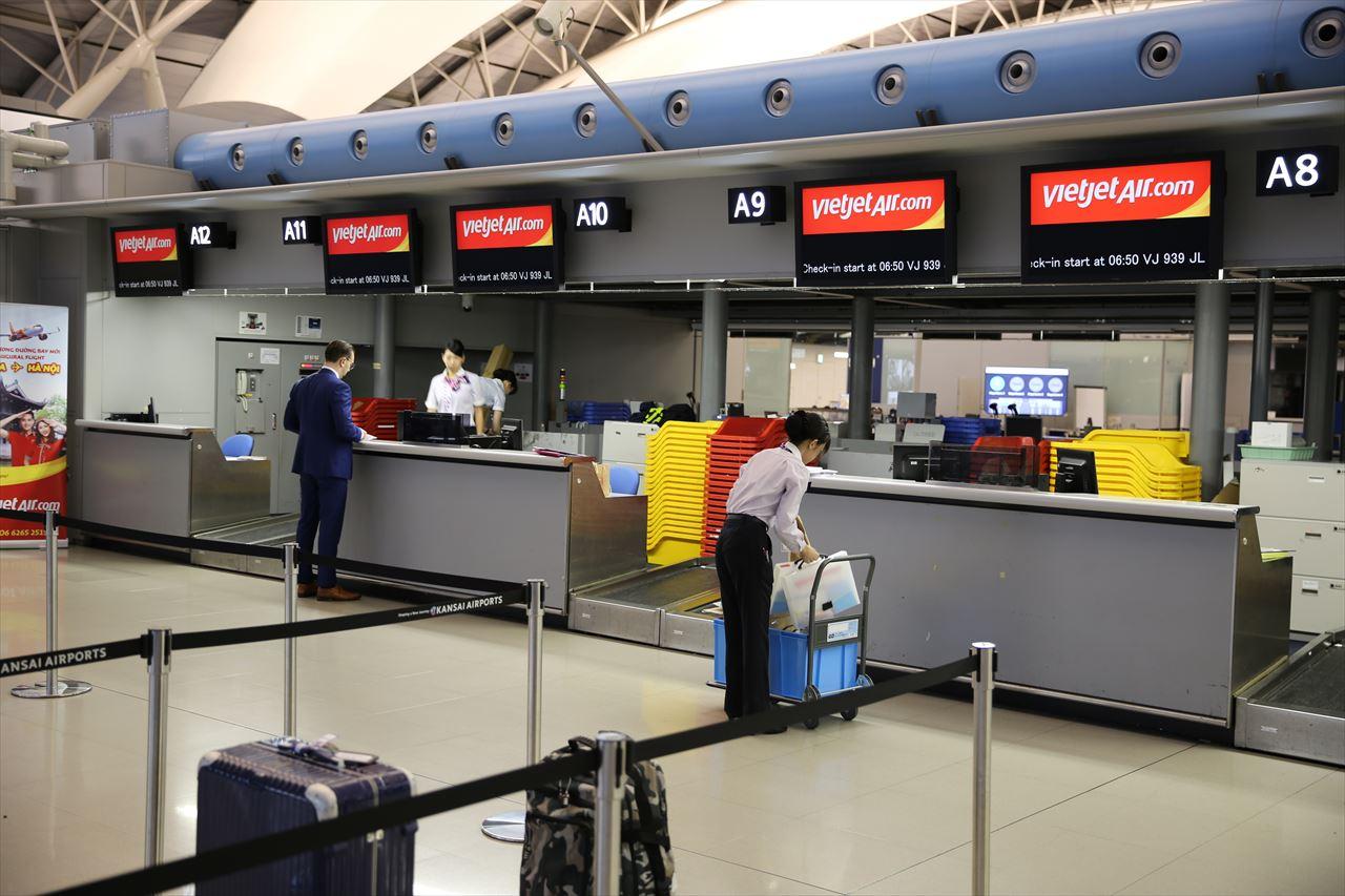 関西空港 チェックインカウンターA