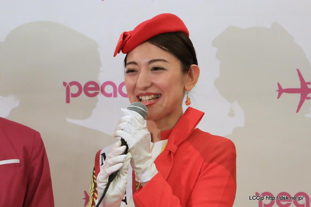 peach MM509 就航セレモニー ミス沖縄 奥濱安奈さん