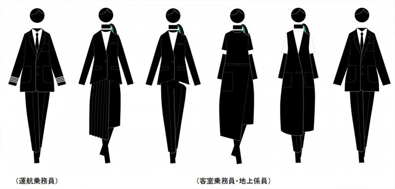 ZIPAIR 制服デザインイメージ 画像:ZIPAIR Tokyo