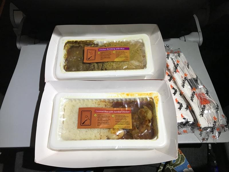 ジェットスターアジア 機内食2品