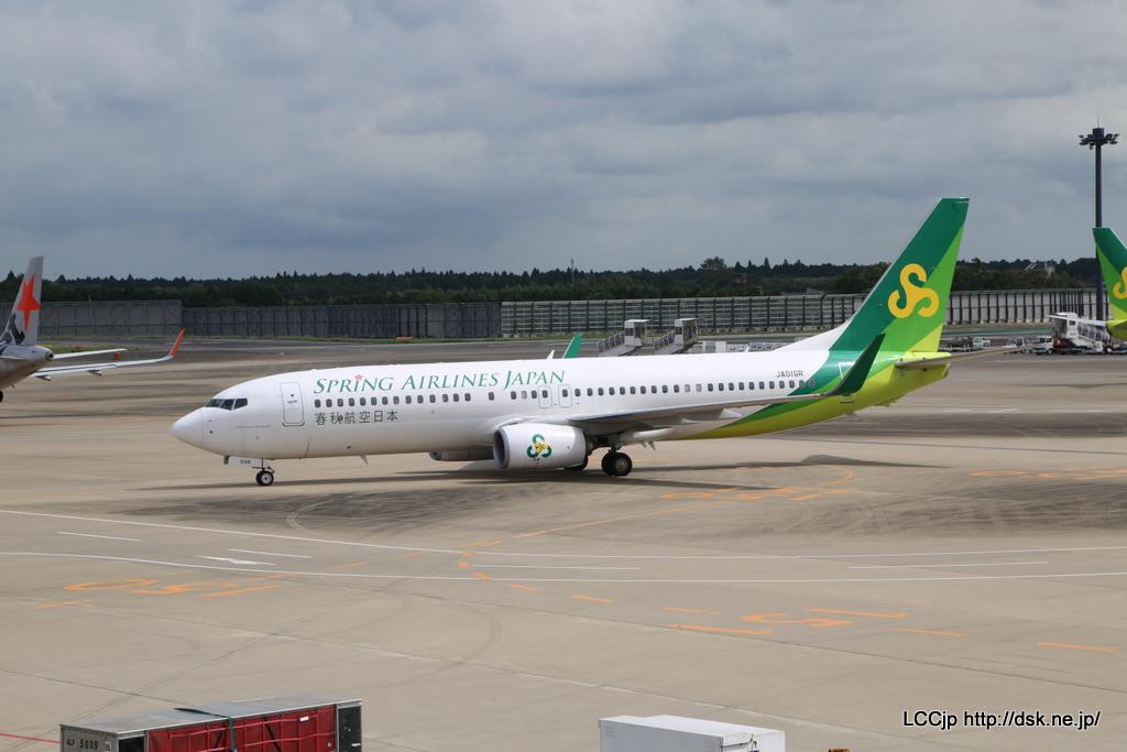 春秋航空日本 関空線就航 搭乗機到着