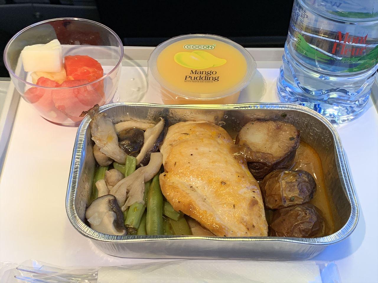 ノックスクート 機内食 ローストチキン