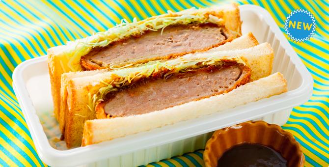 バニラエア みそメンチカツサンドイッチ