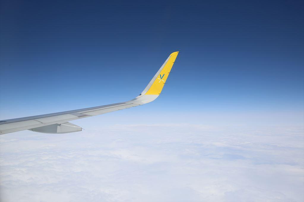 バニラエア機内からの眺め