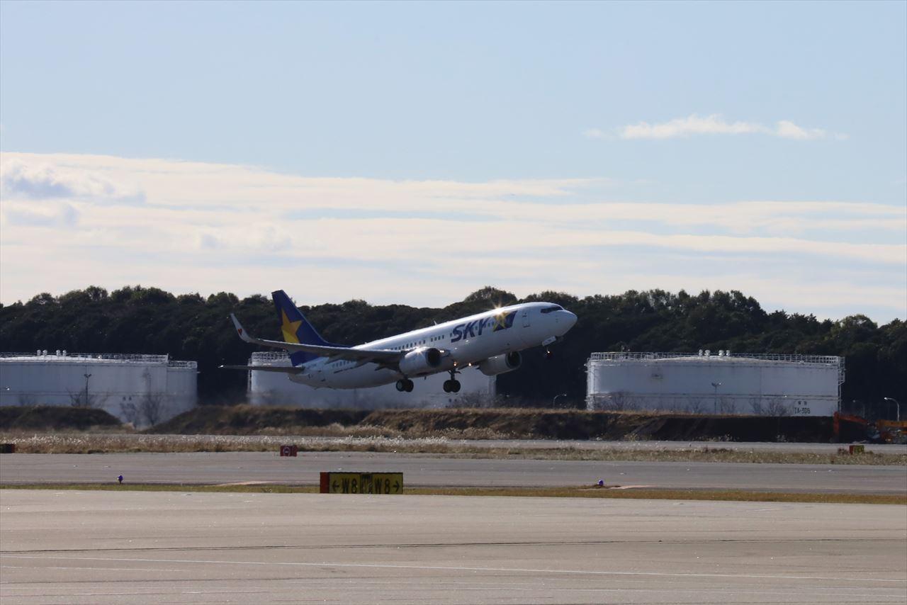 サイパンへ飛び立つSKY811初便