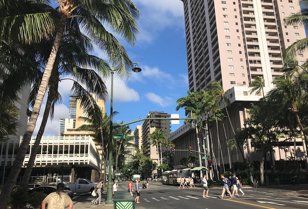 ハワイ ワイキキ周辺