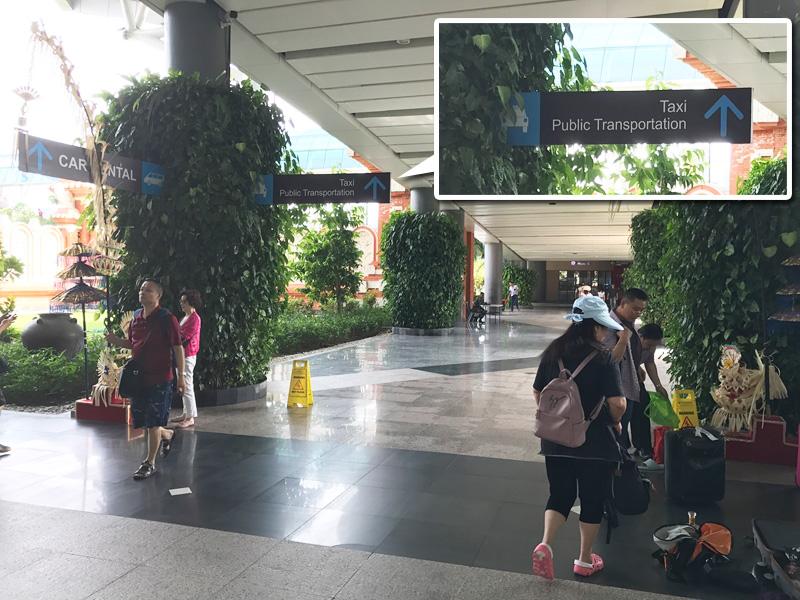 デンパサール空港 到着ロビーから公共バス乗り場へ