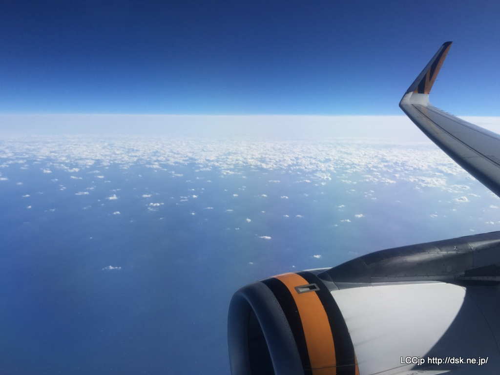 タイガーエア台湾からの眺め