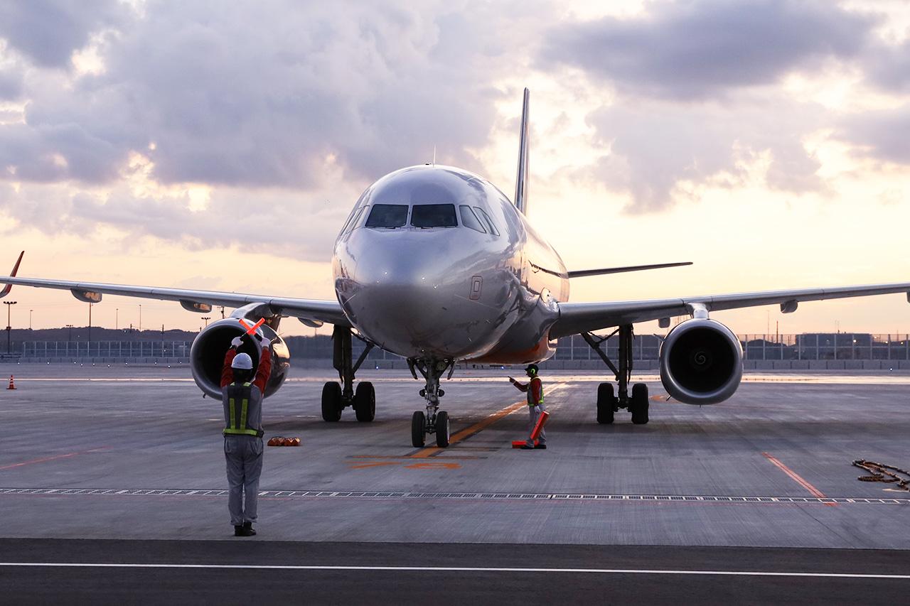 到着初便はジェットスターGK94便