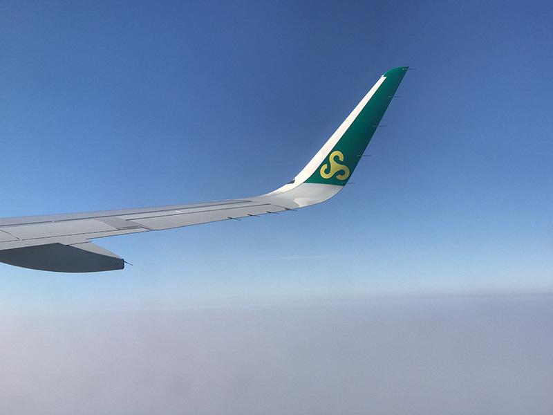 春秋航空 機内からの眺め