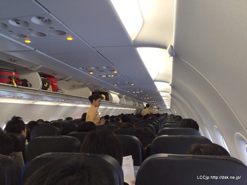 タイガーエア台湾 機内
